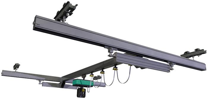 Systèmes de manutention légère en rail creux aluminium